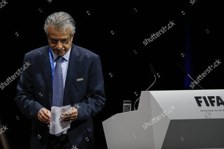 Bahrain's Sheikh Salman Bin Ebrahim Al Khalifa Candidate For Fifa President Walks Away After Delivering a Speech During the Extraordinary Fifa Congress 2016 Held at the Hallenstadion in Zurich Switzerland 26 February 2016 the Extraordinary Fifa Congress is Being Held in Order to Vote on the Proposals For Amendments to the Fifa Statutes and Choose the New Fifa President Switzerland Schweiz Suisse Zurich