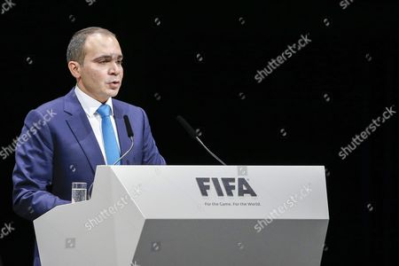 Jordan's Prince Ali Bin Al Hussein Candidate For Fifa President Speaks During the Extraordinary Fifa Congress 2016 Held at the Hallenstadion in Zurich Switzerland 26 February 2016 the Extraordinary Fifa Congress is Being Held in Order to Vote on the Proposals For Amendments to the Fifa Statutes and Choose the New Fifa President Switzerland Schweiz Suisse Zurich