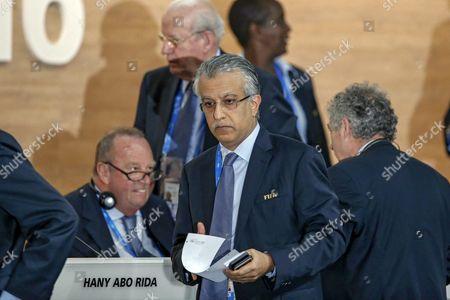 Sheikh Salman Bin Ebrahim Al Khalifa of Bahrain (c) During the Extraordinary Fifa Congress 2016 Held at the Hallenstadion in Zurich Switzerland 26 February 2016 the Extraordinary Fifa Congress is Being Held in Order to Vote on the Proposals For Amendments to the Fifa Statutes and Choose the New Fifa President Switzerland Schweiz Suisse Zurich