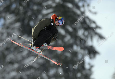 Markus Eder From Italy in Action During the Qualification of the Slopestyle World Cup in Gstaad Switzerland 17 January 2014 Switzerland Schweiz Suisse Gstaad