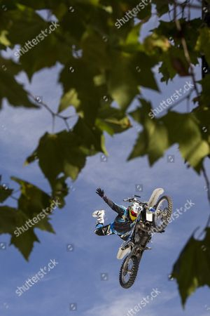 Spanish Fmx Rider Pedro Moreno Shows His Skills at the Fmx Final Qualification During the 'Freestyle Ch' Festival on the Landiwiese in Zuerich Switzerland 22 September 2013 Switzerland Schweiz Suisse Zurich