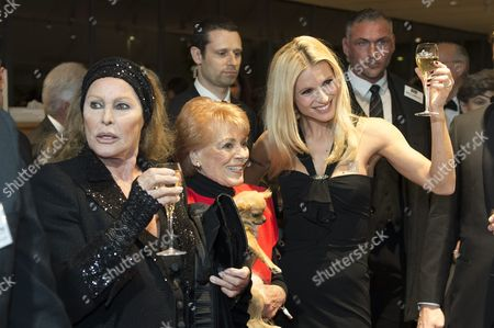 (l-r) Swiss Actress Ursula Andress Swiss Singer Lys Assia and Tv Host Michelle Hunziker Pose For the Media As They Arrive on the Red Carpet Prior to a Gala Night in Bern Switzerland 03 November 2012 the 'Gala De Berne' is a New Event That Should Bring More Stars and Glamour to Switzerlands Capital Switzerland Schweiz Suisse Bern