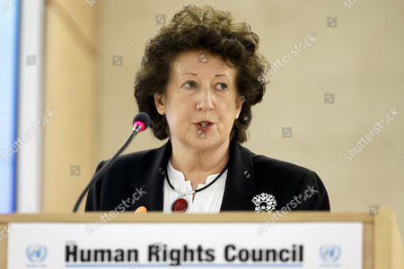 Baroness Anelay Minister of State For Foreign and Commonwealth Office of the United Kingdom of Great Britain and Northern Ireland Addresses Her Statement During the High-level Segment of the 28th Session of the Human Rights Council at the European Headquarters of the United Nations in Geneva Switzerland 02 March 2015 the Human Rights Council Opens Today a Four-week Session with Member States and Top Officials Switzerland Schweiz Suisse Geneva