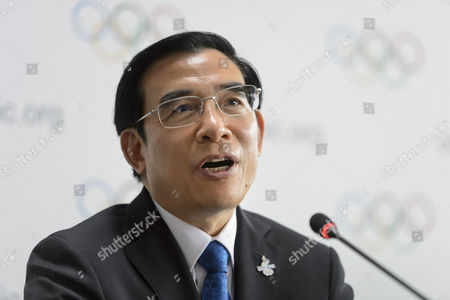 Wang Anshun President of the China Beijing 2022 Bid Committee and Mayor of Beijing Attends a Press Conference During the 2022 Candidate City Briefing For Ioc Members at the Olympic Museum in Lausanne Switzerland 09 June 2015 Switzerland Schweiz Suisse Lausanne