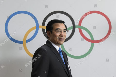 Wang Anshun President of the China Beijing 2022 Bid Committee and Mayor of Beijing Arrives For a Press Conference During the 2022 Candidate City Briefing For Ioc Members at the Olympic Museum in Lausanne Switzerland 09 June 2015 Switzerland Schweiz Suisse Lausanne