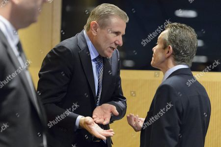 Ukrainian Sergei Bubka (c) Member of the International Olympic Committee (ioc) Talks with Another Delegate During the Opening of an Executive Board Meeting of the International Olympic Committee at the Ioc Headquarters in Lausanne Switzerland 08 December 2015 Switzerland Schweiz Suisse Lausanne