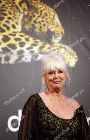 French Actress Mylene Demongeot Poses at the Locarno Film Festival in Locarno Switzerland 10 August 2012 the 65th Locarno Film Festival Runs From 01 to 11 August 2012 Switzerland Schweiz Suisse Locarno