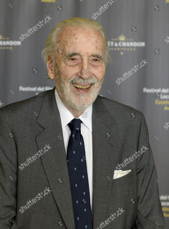 British Actor Sir Christopher Lee Poses For the Media During a Photocall where He Will Receive the Excellence Award Moet & Chandon 2013 Marking the Beggining of the 66th Locarno International Film Festival in Locarno Switzerland 07 August 2013 the Festival Runs From 07 to 17 August Switzerland Schweiz Suisse Ascona