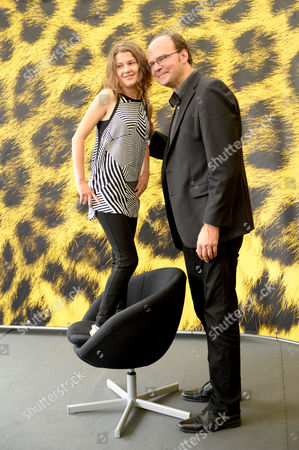 Stock Picture of French Actress Ariana Rivoire (l) and French Director Jean-pierre Ameris (r) Pose During the Photocall For 'Marie Heurtin' at the 67th Locarno International Film Festival in Locarno Switzerland 10 August 2014 the Movie is Presented in the Piazza Grande Section of the Festival Which Runs From 06 to 16 August Switzerland Schweiz Suisse Locarno