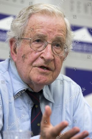 Us Linguist and Philisopher Noam Chomsky Answers Questions to Journalists During a Press Conference at the Geneva Press Club in Geneva in Geneva Switzerland 26 July 2013 Switzerland Schweiz Suisse Genf Geneve