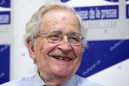Stock Image of Us Linguist and Philisopher Noam Chomsky Smiles During a Press Conference at the Geneva Press Club in Geneva in Geneva Switzerland 26 July 2013 Switzerland Schweiz Suisse Genf Geneve