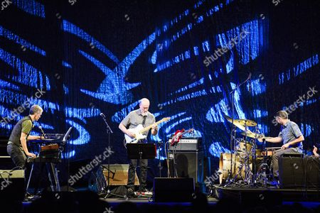 (l-r) Jazz Musicians Brad Mehldau John Scofield and Mark Guiliana Perform on Stage of the Auditorium Stravinski During the 50th Montreux Jazz Festival in Montreux Switzerland 03 July 2016 the Montreux Jazz Festival Runs From 01 to 16 July Switzerland Schweiz Suisse Montreux