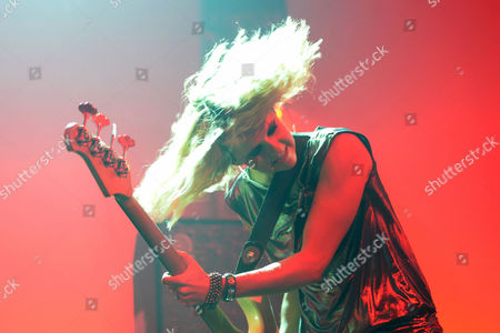 Singer Charlotte Cooper of the Band the Subways Performs During a Concert at the Blue Balls Festival in Lucerne Switzerland 21 July 2014 the Festival Runs From 18 to 26 July Switzerland Schweiz Suisse Luzern
