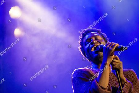 Stock Picture of British-ghanaian Singer-songwriter Kwabena Sarkodee Adjepong Aka Kwabs Performs During His Concert at the Blue Balls Festival in Lucerne Switzerland 27 July 2016 the Music Event Runs From 22 to 30 July Switzerland Schweiz Suisse Lucerne