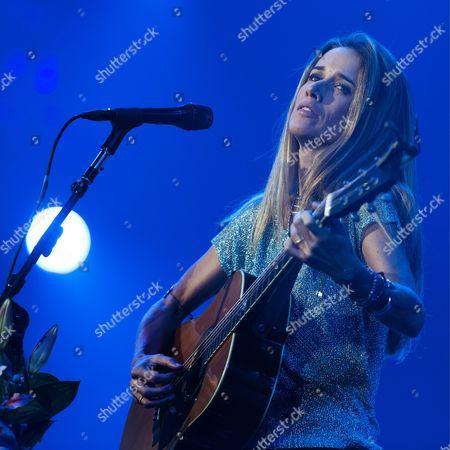 Bermudian Singer-songwriter Heather Nova Performs on Stage at the Baloise Session in Basel Switzerland 11 November 2013 Switzerland Schweiz Suisse Basel
