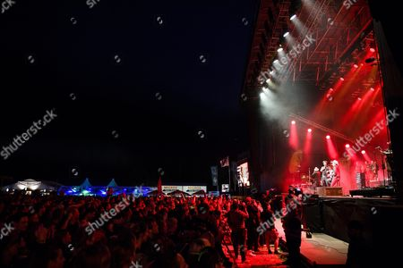 Boss Burns German Group 'The Bosshoss' Performs at the Music Open Air Festival in Gampel Switzerland 20 August 2016 the Annual Festival Runs From 18 to 21 August Switzerland Schweiz Suisse Gampel