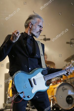 Ruben Block Singer and Guitarist of Belgian Rock Band 'Triggerfinger' Performs on Stage at the Gurten Music Open Air Festival in Bern Switzerland 18 July 2013 Switzerland Schweiz Suisse Bern