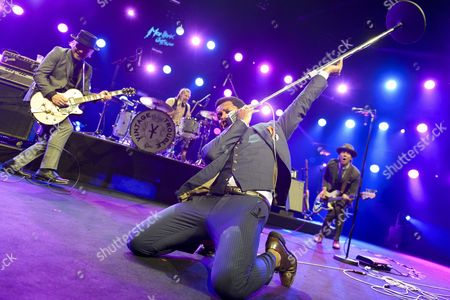 (l-r) Nalle Colt Richard Danielson Us Singer Ty Taylor and Rick Barrio Dill of Band 'Vintage Trouble' Perform on Stage of Auditorium Stravinski During the 50th Montreux Jazz Festival in Montreux Switzerland 09 July 2016 the Music Festival Runs From 01 to 16 July Switzerland Schweiz Suisse Montreux