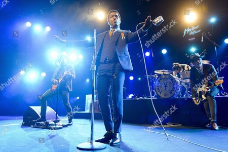 (l-r) Us Singer Ty Taylor Richard Danielson and Rick Barrio Dill of Band 'Vintage Trouble' Perform on Stage of Auditorium Stravinski During the 50th Montreux Jazz Festival in Montreux Switzerland 09 July 2016 the Music Festival Runs From 01 to 16 July Switzerland Schweiz Suisse Montreux