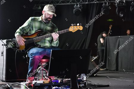 Scottish Bassist Dominic Aitchison of the Band Mogwai Performs on the Stage of the Auditorium Stravinski During the 50th Montreux Jazz Festival in Montreux Switzerland 05 July 2016 the Music Festival Runs From 01 to 16 July Switzerland Schweiz Suisse Montreux