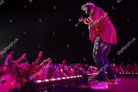 Stock Image of Curtis James Jackson Iii Aka '50 Cent' of the Us Performs During the Openair Frauenfeld Music Festival in Frauenfeld Switzerland 08 July 2016 the Event Takes Place From 07 to 09 July Switzerland Schweiz Suisse Frauenfeld
