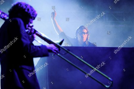 Austrian Band 'Parov Stelar' Performs at the Music Festival Open Air Gampel in Gampel Switzerland 20 August 2016 (issued 21 August) the Annual Festival Runs From 18 to 21 August Switzerland Schweiz Suisse Gampel