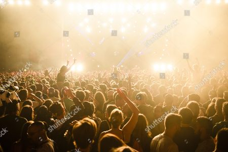 A Picture Made Available on 20 August 2016 Shows the Crowd Reacting During the Performance of the German Dj Robin Schulz at the Music Open Air Festival in Gampel Switzerland 19 August 2016 the Annual Festival Runs From 18 to 21 August Switzerland Schweiz Suisse Gampel