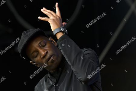 French Singer Regis Fayette-mikano of the Band Abd Al Malik Performs on the Stage Les Arches During the 41st Paleo Festival Nyon in Nyon Switzerland 23 July 2016 the Open-air Music Festival the Largest in the Western Part of Switzerland Runs From 19 to 24 July Switzerland Schweiz Suisse Nyon