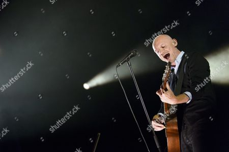 French Singer Gaetan Roussel From Band Louise Attaque Performs on the Stage 'Grande Scene' During the 41st Paleo Festival Nyon in Nyon Switzerland 21 July 2016 the Open-air Music Festival the Largest in the Western Part of Switzerland Runs From 19 to 24 July Switzerland Schweiz Suisse Nyon