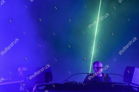 The British Electronic Dance Music Duo 'The Chemical Brothers' Consisting of Tom Rowlands and Ed Simons Perform on the Grande Scene Stage During the 41st Paleo Festival in Nyon Switzerland Early 24 July 2016 the Open-air Music Festival the Largest in the Western Part of Switzerland Runs From 19 to 24 July Switzerland Schweiz Suisse Nyon
