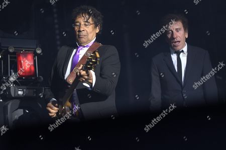 French Singers Laurent Voulzy (l) and Alain Souchon Perform on the Stage Grande Scene During the 41st Paleo Festival Nyon in Nyon Switzerland 23 July 2016 the Open-air Music Festival the Largest in the Western Part of Switzerland Runs From 19 to 24 July Switzerland Schweiz Suisse Nyon