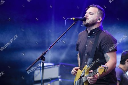 Dustin Kensrue Singer and Guitarist of the Us Band 'Thrice' Performs at the Music Festival Open Air Gampel in Gampel Switzerland Friday 19 August 2016 the Annual Festival Runs From 18 to 21 August Switzerland Schweiz Suisse Gampel