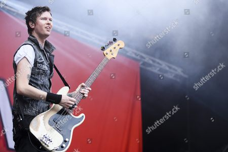 Jason Mccaslin the Base Player of the Canadian Band 'Sum 41' Performs at the Music Festival Open Air Gampel in Gampel Switzerland 18 August 2016 the Annual Festival Runs From 18 to 21 August Switzerland Schweiz Suisse Gampel