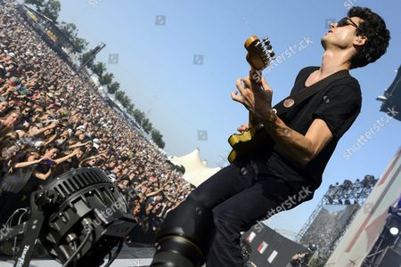 French Singer Adrien Gallo of Rock Band Bb Brunes Performs During the 38th Edition of the Paleo Festival in Nyon Switzerland 27 July 2013 the Paleo Open-air Music Festival is the Largest in the Western Part of Switzerland with 230 000 Spectators in Six Days and Will Run From 23 to 28 July Switzerland Schweiz Suisse Nyon