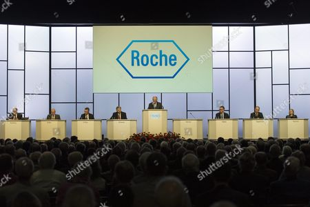 Franz B Humer (c) Chairman of the Board of Roche Speaks During the General Assembly of Swiss Pharmaceutical Company Roche Holding Ag in Basel Switzerland on 05 March 2013 Franz Humer Announced That He Won't Be Standing For Re-election in 2014 Switzerland Schweiz Suisse Basel