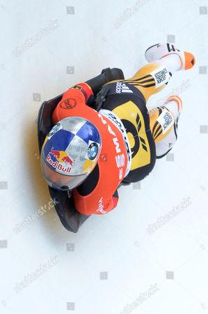 Anja Huber Selbach From Gremany in Action During the Women's Skeleton World Cup in St Moritz Switzerland 23 January 2015 Switzerland Schweiz Suisse St. Moritz