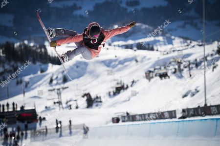 Torah Bright of Australia Competes in the Women's Halfpipe Final Run at the Laax Open Snowboard Event in Laax Switzerland 22 January 2016 Switzerland Schweiz Suisse Laax