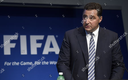Domenico Scala Fifa Chairman of the Audit and Compliance Committee Speaks During a Press Conference at the Fifa Headquarters in Zurich Switzerland 02 June 2015 Fifa President Joseph S Blatter at the Same Event Said He is Resigning and Has Called For an Extraordinary Congress to Elect His Successor 'I Will Organise an Extraordinary Congress For a Replacement For Me As President ' Blatter Said at the Hastily Convened Press Conference in Zurich Switzerland Schweiz Suisse Zurich