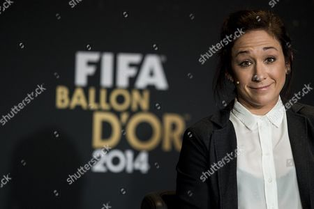 Nadine Kessler of Germany One of the Nominees For the Fifa Women's World Player of the Year Attends a Press Conference Prior to the Fifa Ballon D'or Awarding Ceremony in Zurich Switzerland 12 January 2015 Switzerland Schweiz Suisse Zurich