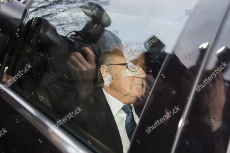 Fifa President Joseph S Blatter Arrives in a Car at the Fifa Headquarters 'Home of Fifa' in Zurich Switzerland 17 December 2015 While Fifa President Joseph S Blatter Will Appear in Person Before the Panel of Four Judges of the Fifa Ethics Court Uefa President Michel Platini Plans to Boycott His Hearing Scheduled For 18 December Blatter and Platini Were Banned For 90 Days on 08 October Switzerland Schweiz Suisse Zurich