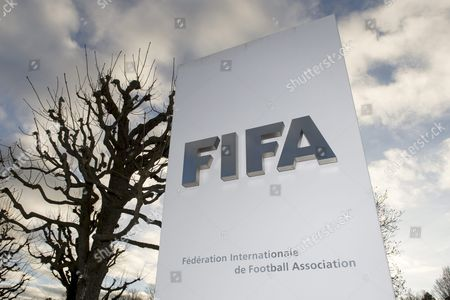 The Fifa Logo is Pictured Outside of the Fifa Headquarters 'Home of Fifa' in Zurich Switzerland 17 December 2015 While Fifa President Joseph S Blatter Will Appear in Person Before the Panel of Four Judges of the Fifa Ethics Court Uefa President Michel Platini Plans to Boycott His Hearing on 18 December Blatter and Platini Were Banned For 90 Days on 08 October Switzerland Schweiz Suisse Zurich