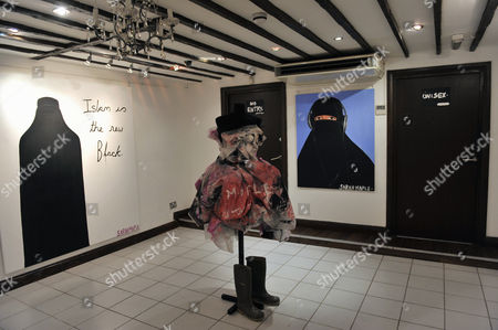 Editorial picture of 'This Artist Blows', first solo exhibition of controversial Muslim artist Sarah Maple, Salon Gallery, London, Britain - 28 Oct 2008