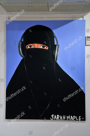 Oil painting 'Haram II' by artist Sarah Maple (estimate £25,000)