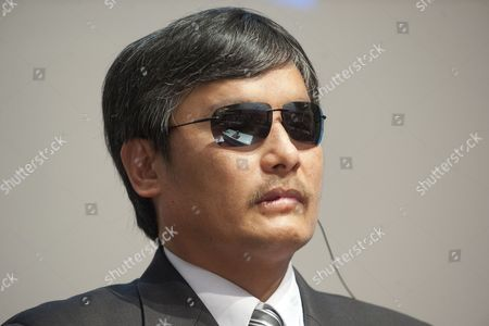 Chen Guangcheng the Blind Chinese Activist Speaks During a Geneva Summit For Human Rights and Democracy at the Geneva International Conference Center in Geneva Switzerland 25 February 2014 Switzerland Schweiz Suisse Geneve
