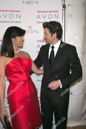 Andrea Jung, Chairman and CEO Avon Products Inc. and Patrick Dempsey