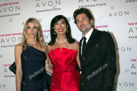 Jillian Fink, Andrea Jung Chairman and CEO Avon Products Inc. and Patrick Dempsey