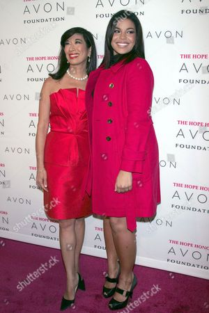 Andrea Jung Chairman and CEO Avon Products Inc. and Jordin Sparks