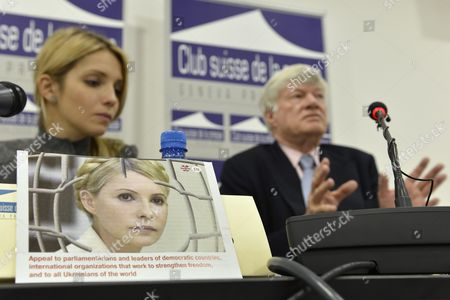 Yevgenia Tymoshenko (l) Daughter of Jailed Former Ukrainian Prime Minister Yulia Tymoshenko and Geoffrey Robertson Qc (r) Lawyer Former Jurist Member of the Un's International Justice Council First and President of the Sierra Leone War Crimes Court Speak During a Media Conference at the Geneva Press Club in Geneva Switzerland 24 October 2012 Ukrainians Vote on 28 October in Parliamentary Elections Overshadowed by the Absence of Jailed Opposition Leader Yulia Tymoshenko and Marked by Eu Worries Over the Fate of Democracy in the Ex-soviet State Switzerland Schweiz Suisse Geneva