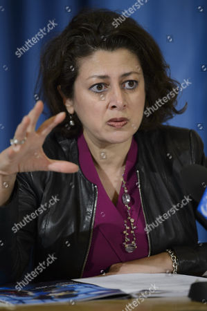 Afshan Khan Director Office of Emergency Programmes Unicef Speaks During a Press Conference About the Launch of the 2015 Humanitarian Action For Children and Update on the Situation of Children in Syria and in Ebola Affected Countries at the European Headquarters of the United Nations in Geneva Switzerland 29 January 2015 Switzerland Schweiz Suisse Genf Geneve