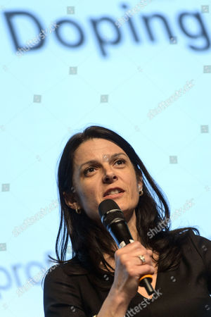 Stock Photo of Betsy Andreu Spouse of Former Cyclist and Current Cycling Team Director Frankie Andreu Speaks During the World Anti-doping Agency (wada) Anti-doping Organization Symposium in Lausanne Switzerland 24 March 2015 the Annual Symposium This Year Takes Place From 24 to 26 March Switzerland Schweiz Suisse Lausanne
